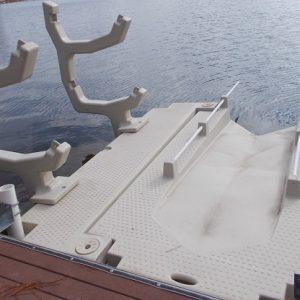kayak dock rack on kayak launch